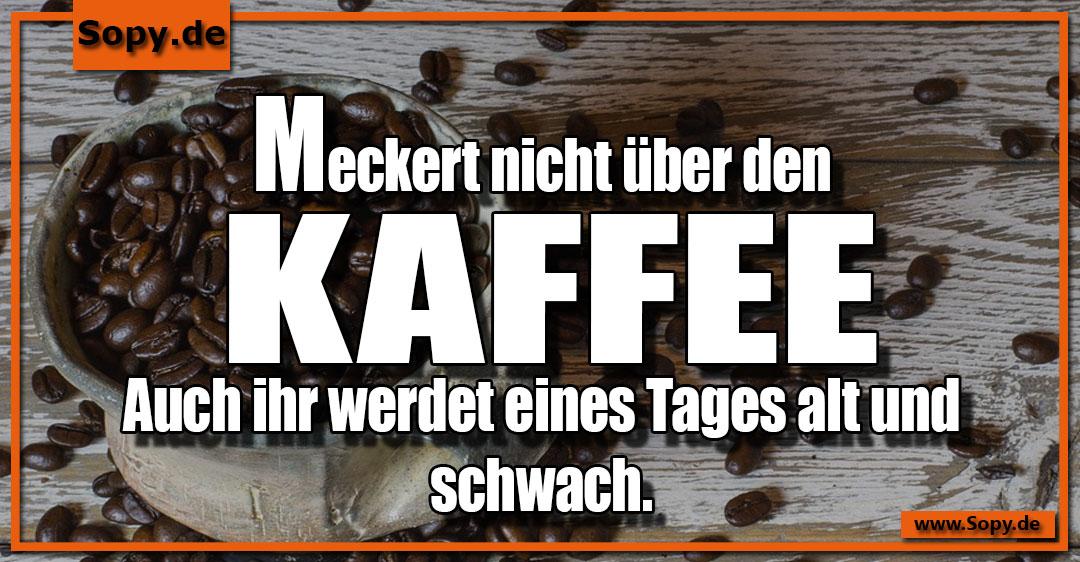 über den Kaffee