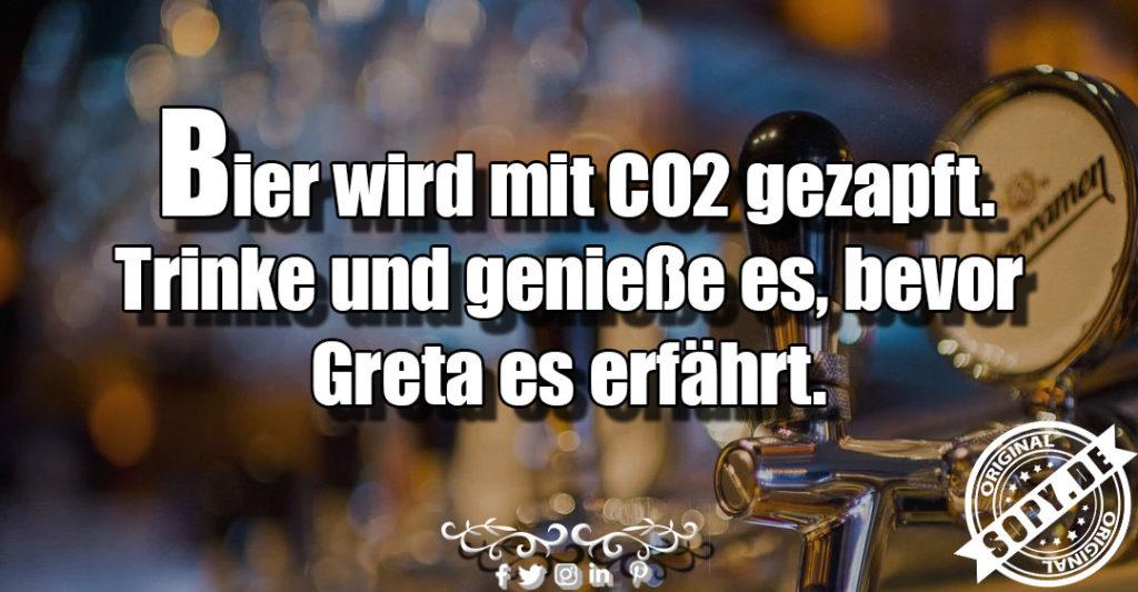 Bier mit CO2