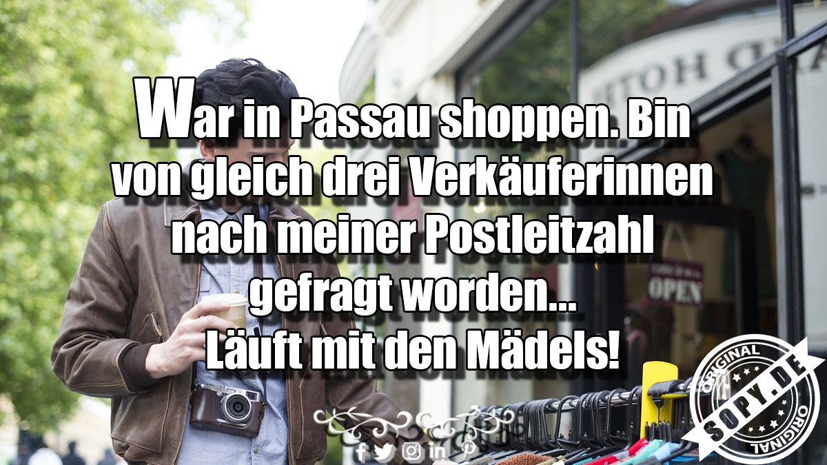 War in Passau shoppen