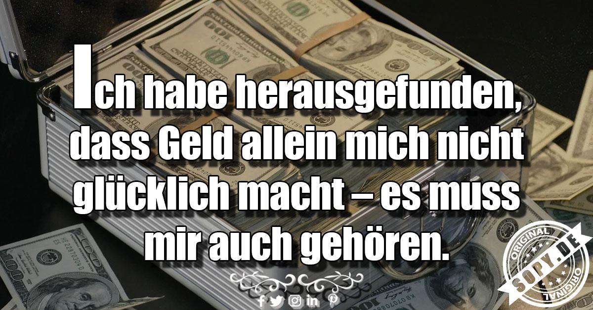Geld allein