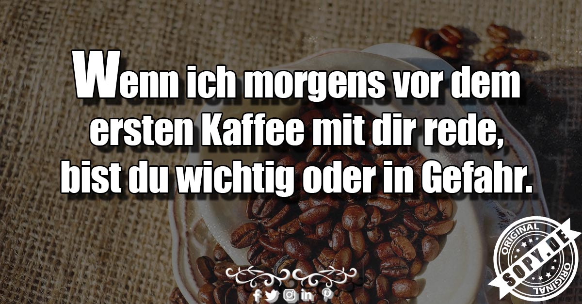 morgens vor dem ersten Kaffee