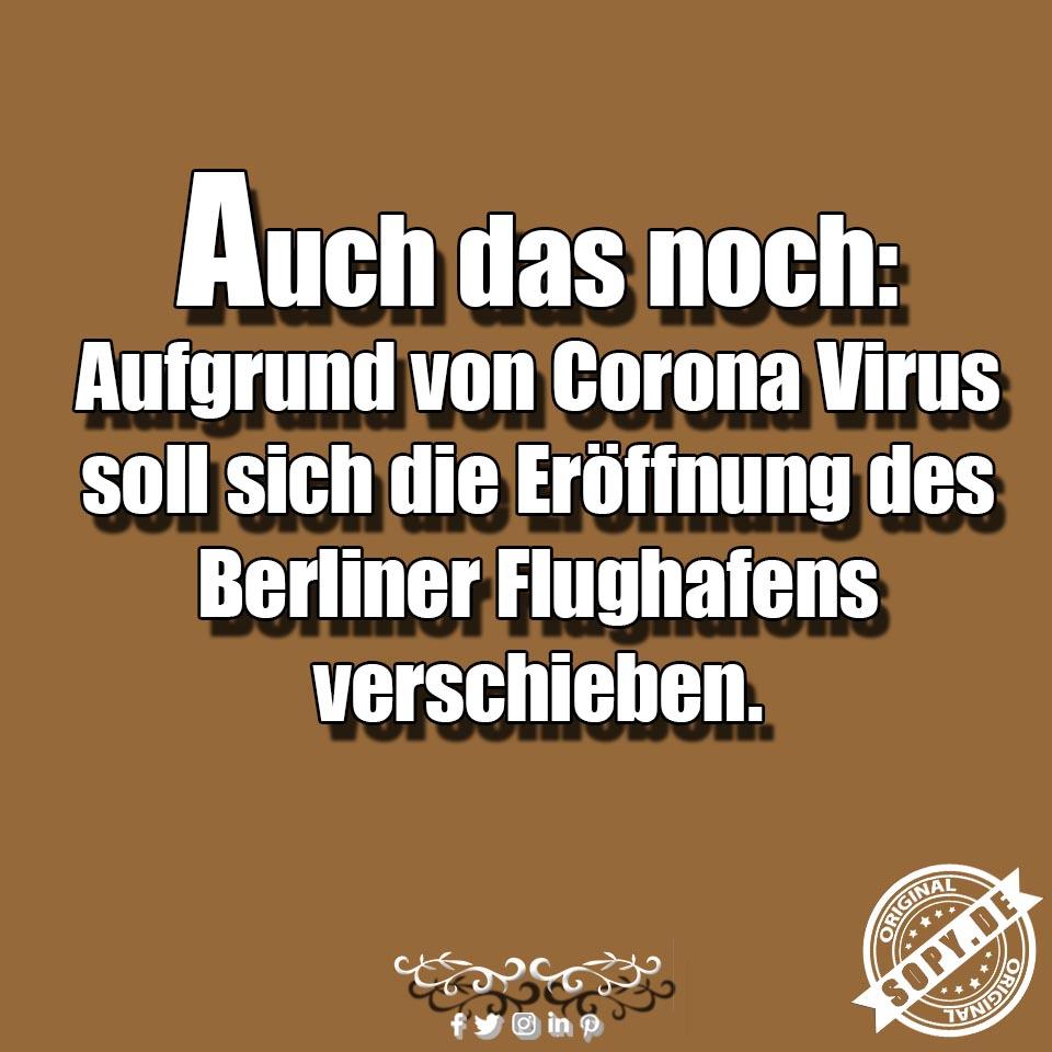 Corona Virus Flughafen