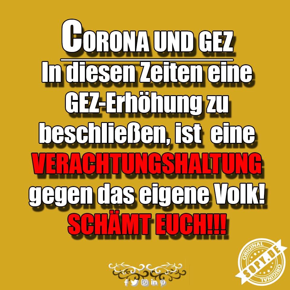 Corona GEZ Erhöhung