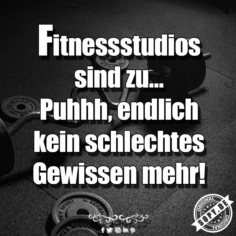Fitnessstudio sind zu