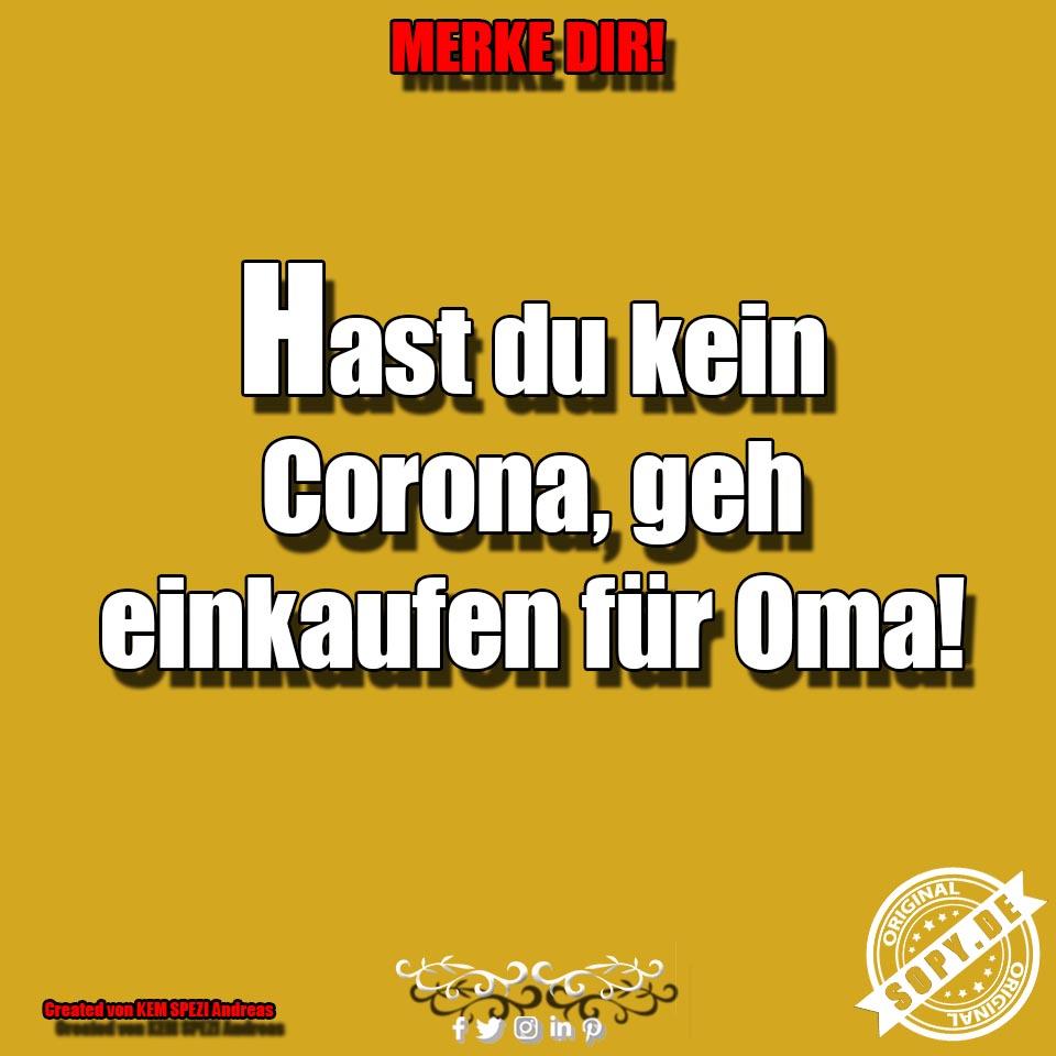 kein Corona