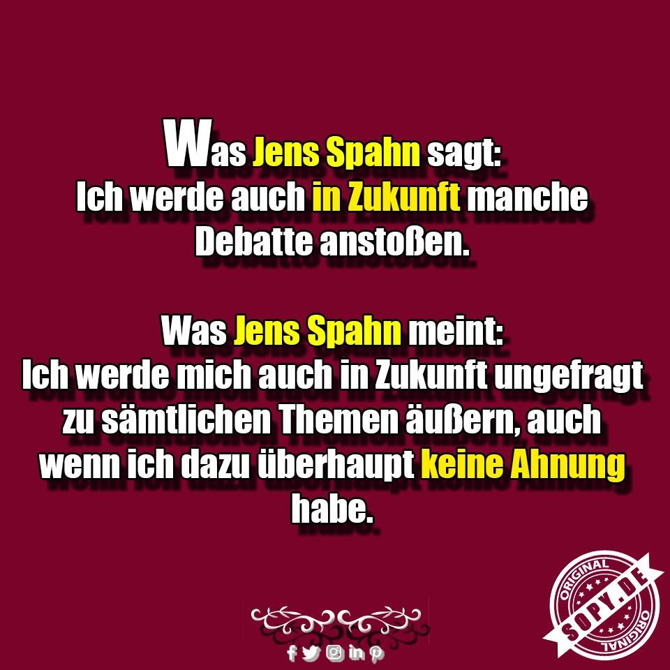 Jens Spahn sagt