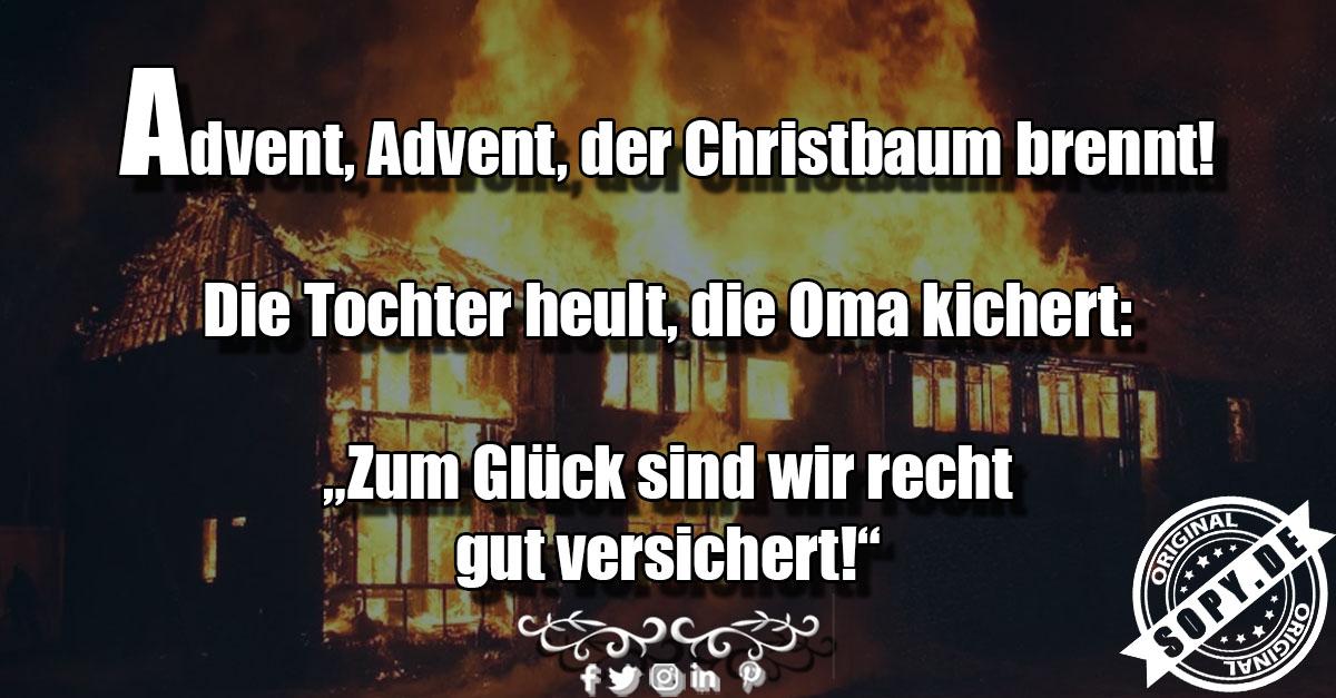 der Christbaum brennt